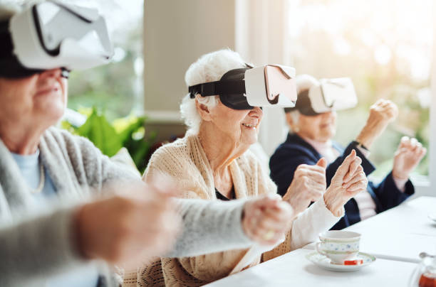 Revolutionising what retirement means with virtual reality stock photo