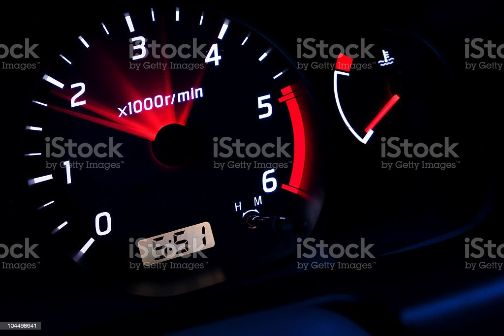 revolutions in the car. royalty-free stock photo