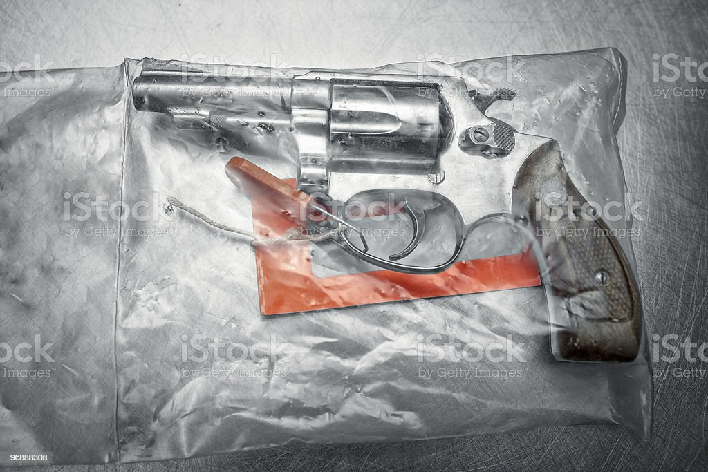 Revolver gun 38 special stock photo