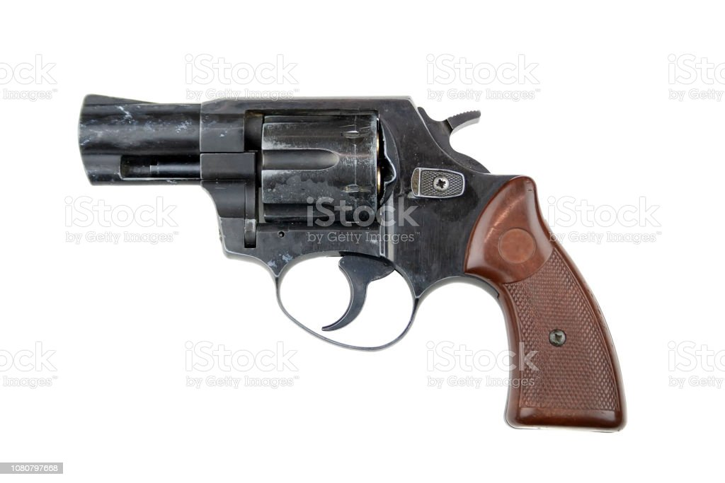 Revolver isolated on white background stock photo