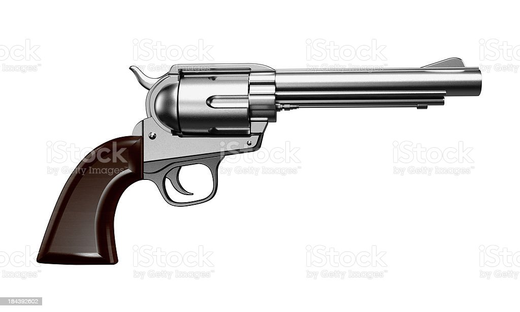 Revolver isolated on white stock photo