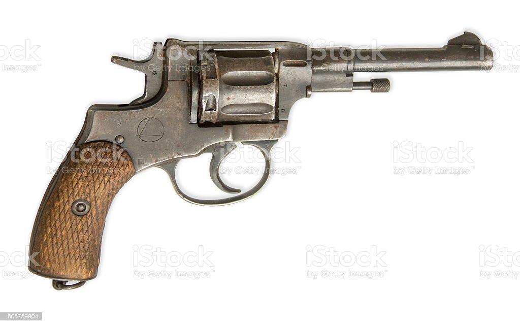 Revólver Aislado en blanco - foto de stock