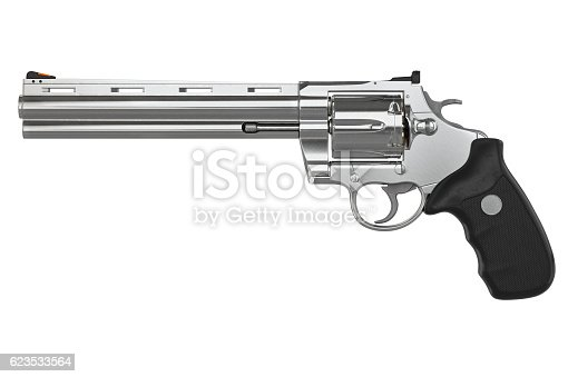 istock Revolver, side view 623533564