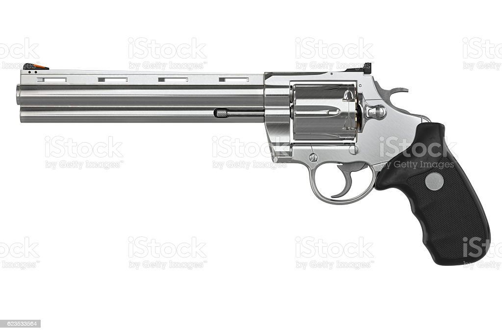 Revolver, side view stock photo