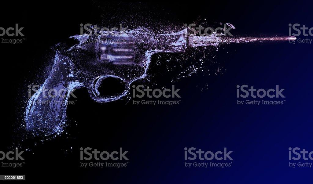 revolver. water gun, abstract stock photo
