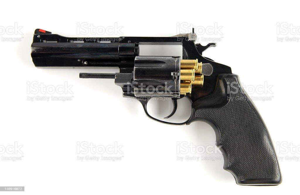 Revolver with ammo. stock photo