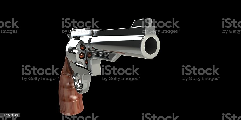 revolver with ammunition and bullets isolated royalty-free stock photo