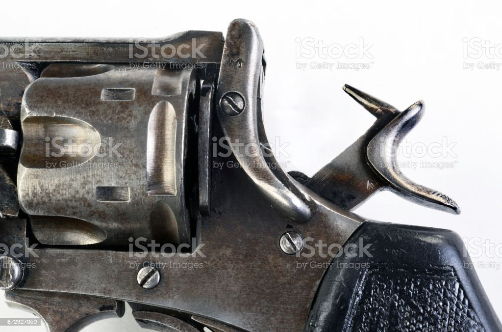 Revolver with Hammer Back. stock photo