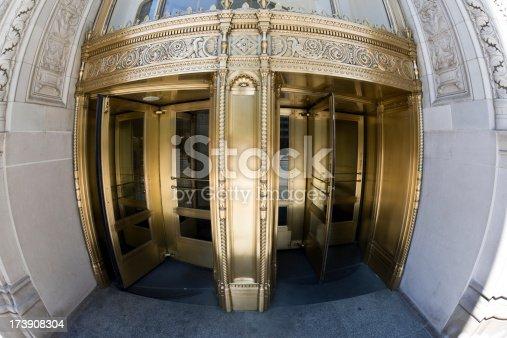 istock Revolving Door downtown Chicago 173908304
