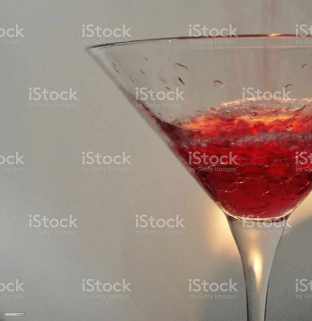 Revved up Martini Being Poured stock photo