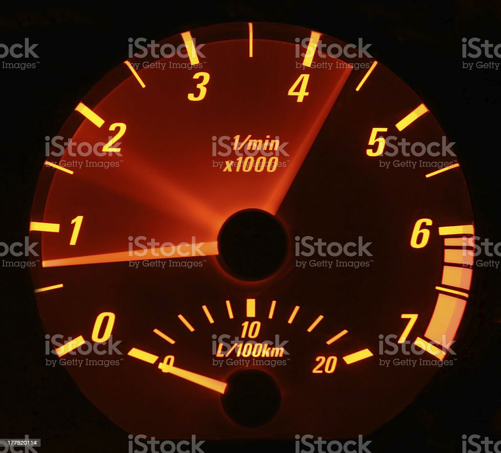 Revving the engine royalty-free stock photo