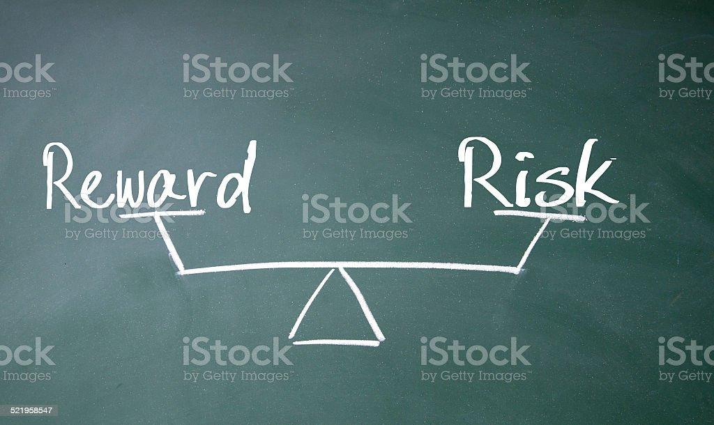 reward und Risiko Gleichgewicht-Symbol – Foto