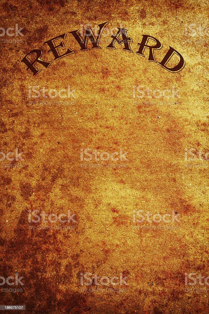 Reward poster royalty-free stock photo