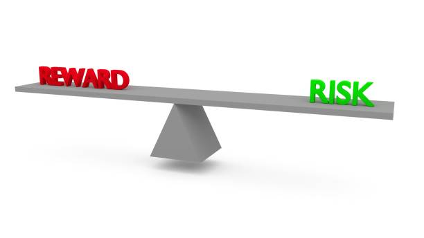 Reward vs risk stock photo