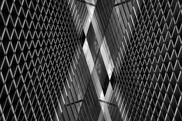 reworked photo of louvered ceiling or wall. grunge industrial interior. - dachschräge einrichten stock-fotos und bilder