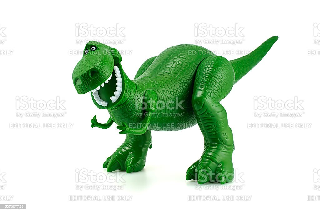 Rex, o dinossauro verde Toy personagens de Toy Story. - foto de acervo