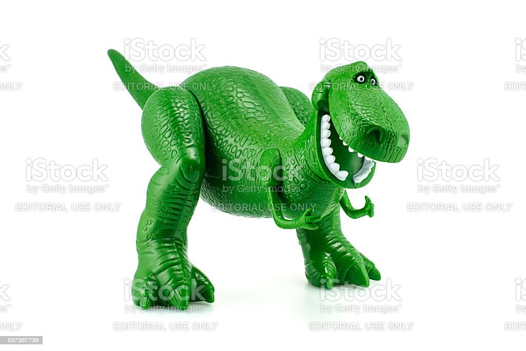 Rex the green dinosaur toy character from Toy Story stock photo