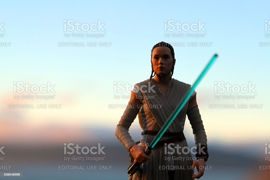 Rey at the Setting of the Sun stock photo