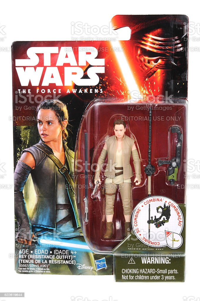 Rey Resistance Outfit Action Figure stock photo