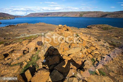 "istock Reykjanes Skaginn, Iceland »; August 2017: A beautiful lake on the Reykjanes Skaginn peninsula""t 1310582474"