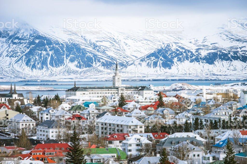 Reykjavik capital city of iceland stock photo