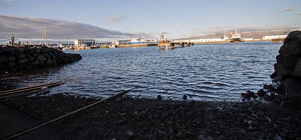Reykjavik habor stock photo