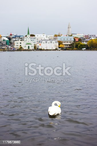 Reykjavik, Iceland: A view across the