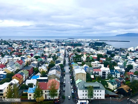 Reykjavik, as seen from the top of Hallgrímskirkja