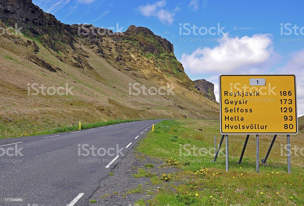 Reykjavik road sign royalty-free stock photo