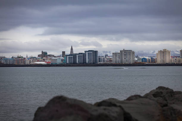 reykjavik skyline, iceland reykjavik skyline in iceland. Hallgrímskirkja church stock pictures, royalty-free photos & images