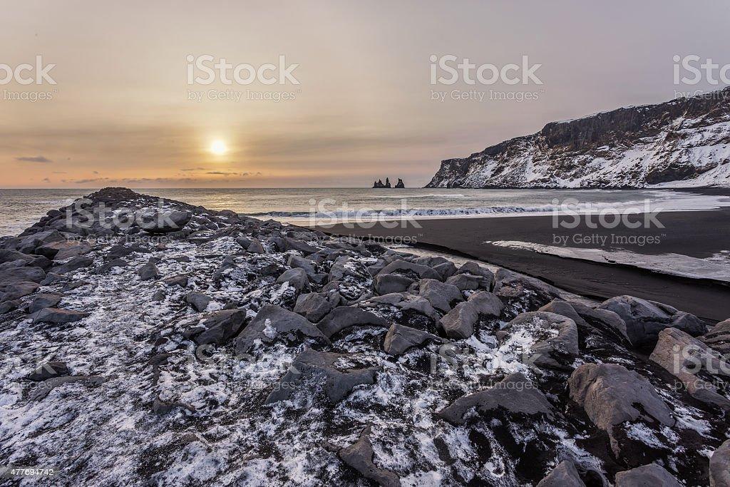 Reynisfjara Beach stock photo