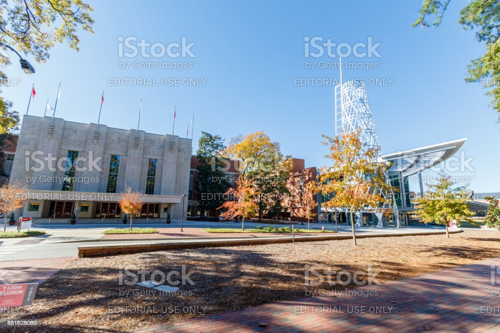 Reynolds Coliseum and Talley Student Union at NCSU stock photo