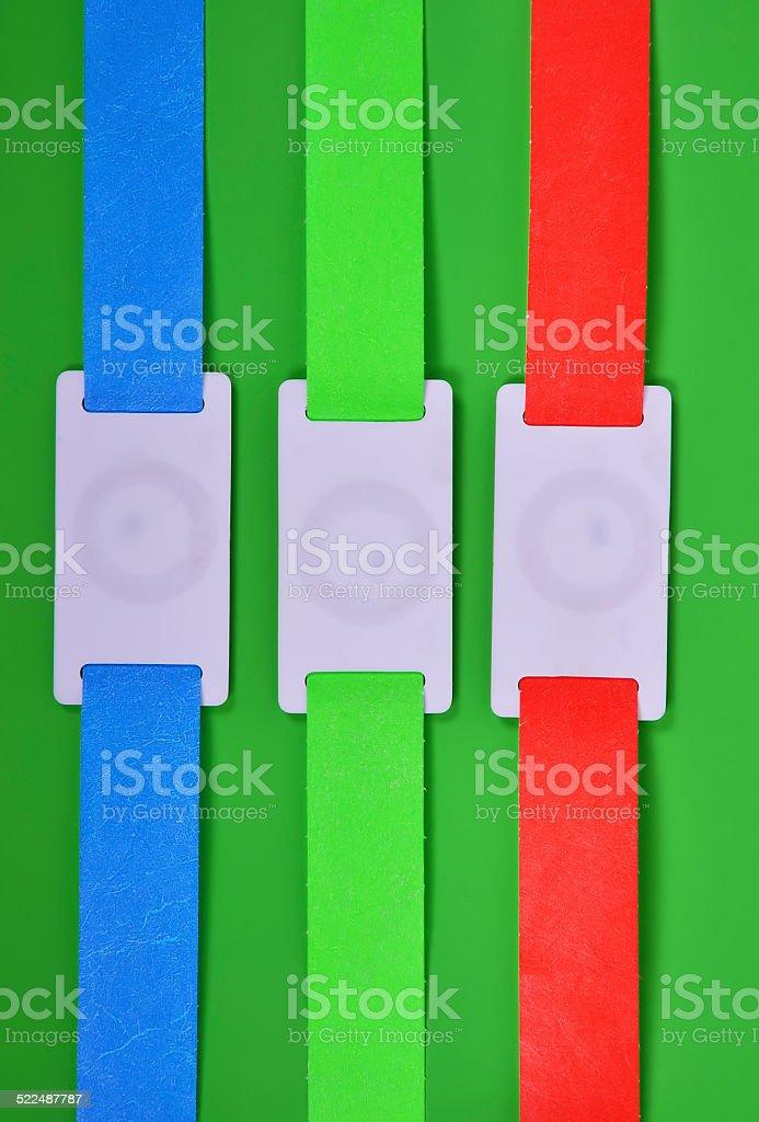 rfid bracelets stock photo