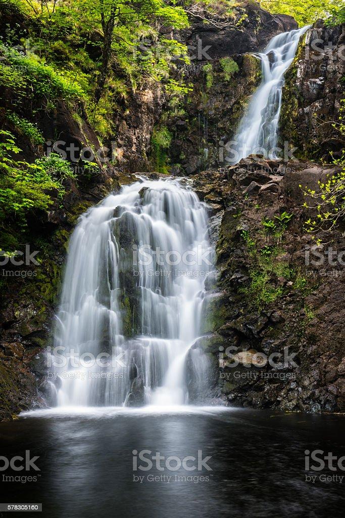 Rha Waterfall, Uig, Skye stock photo
