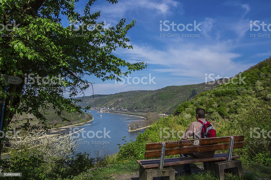 Rheinblick stock photo