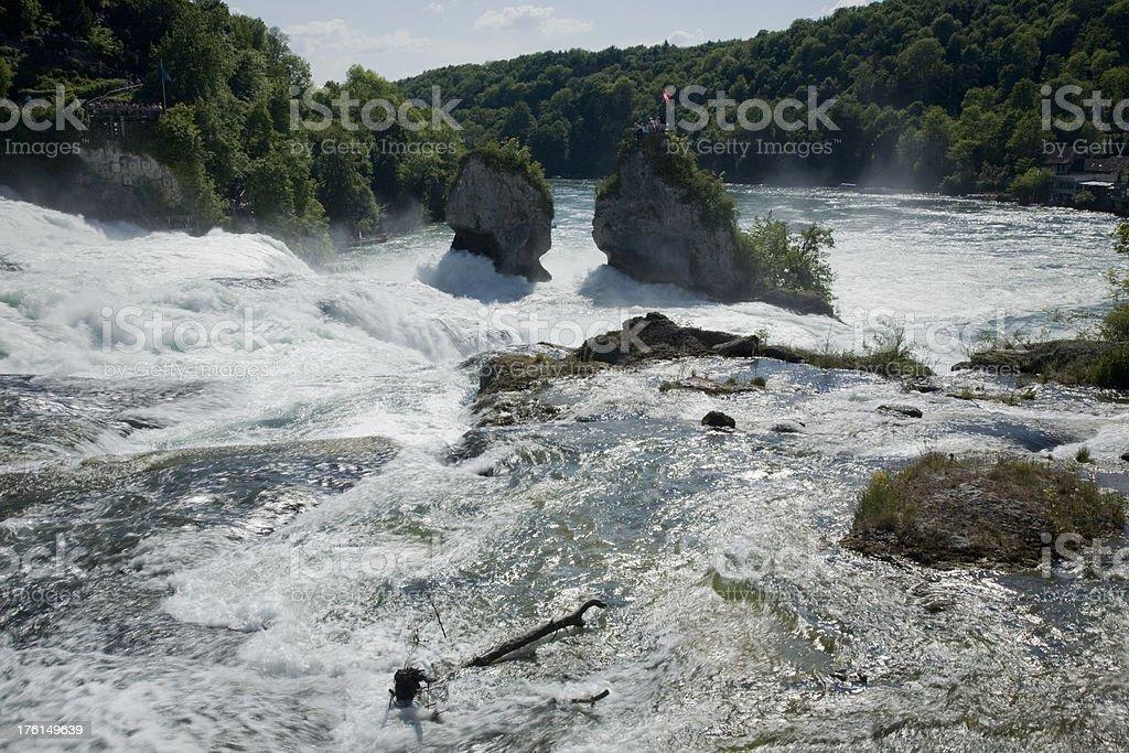 Rheinfall, Europas grösster Wasserfall stock photo