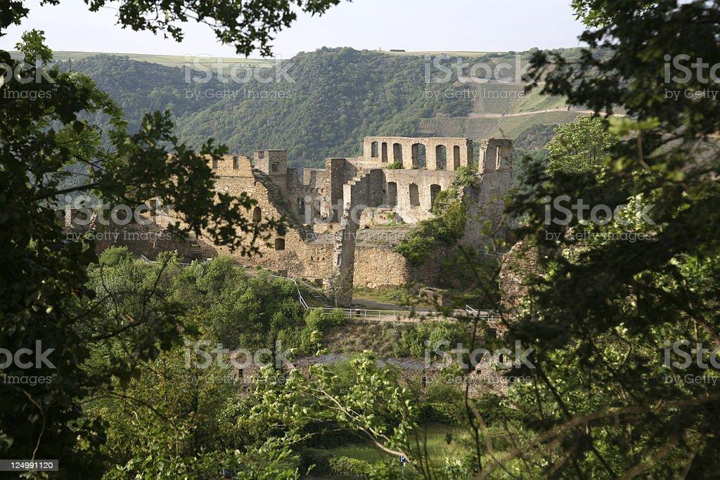 Rheinfels Castle on the Rhine (Germany) stock photo