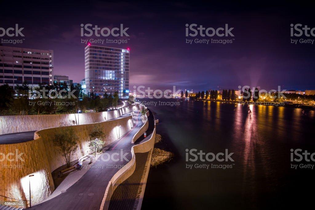 Rheinpromenade Basel stock photo