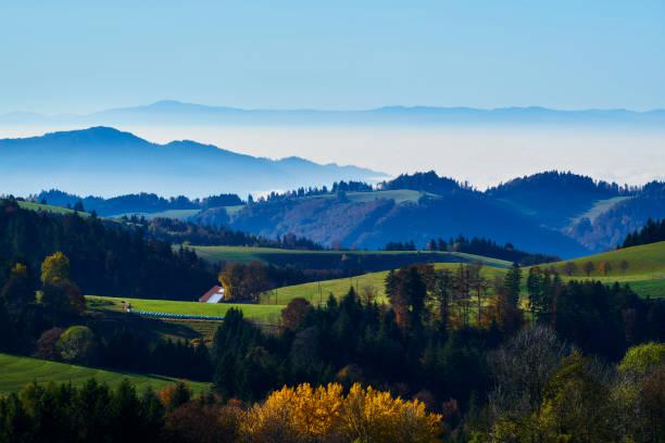 Rheintal Schwarzwald Vogesen Panorama stock photo