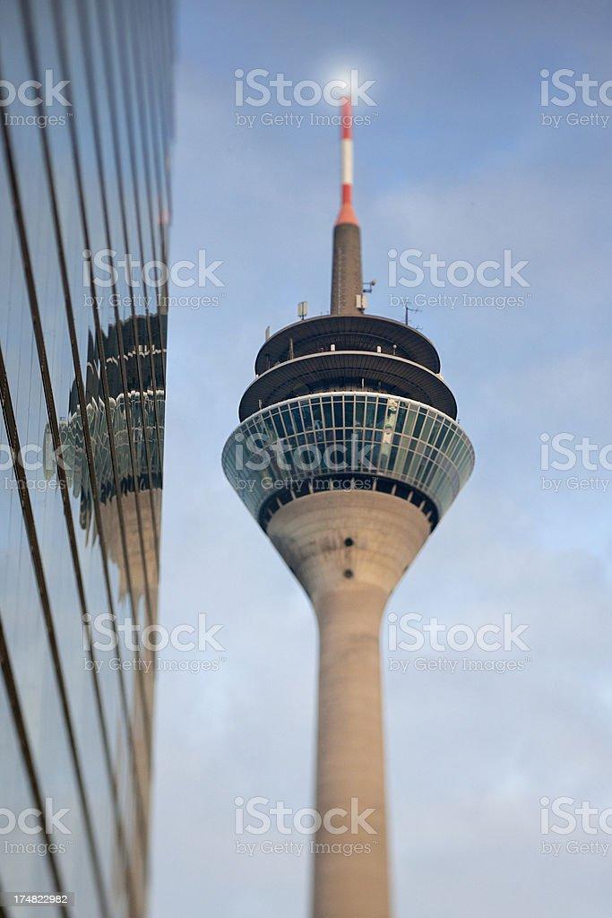Rheinturm Tower in Dusseldorf Germany royalty-free stock photo