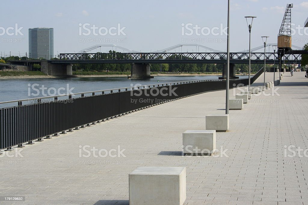 Rhine at Mannheim stock photo