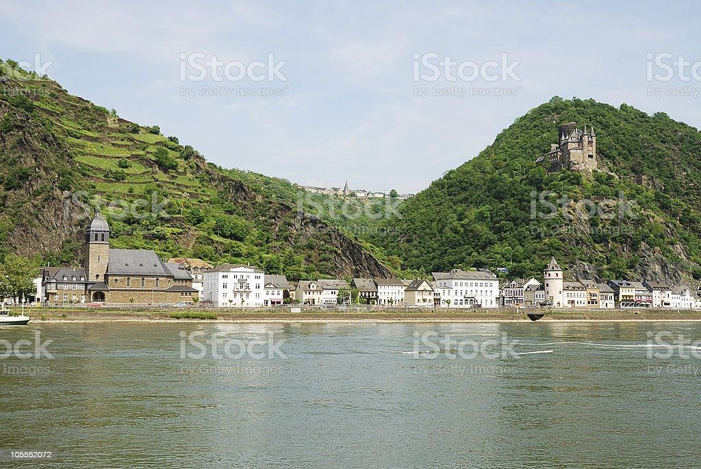 Rhine castle stock photo
