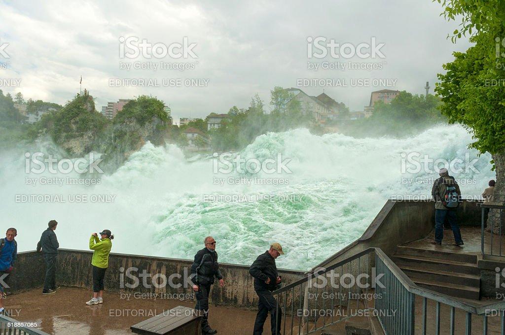 Rhine falls in Switzerland stock photo