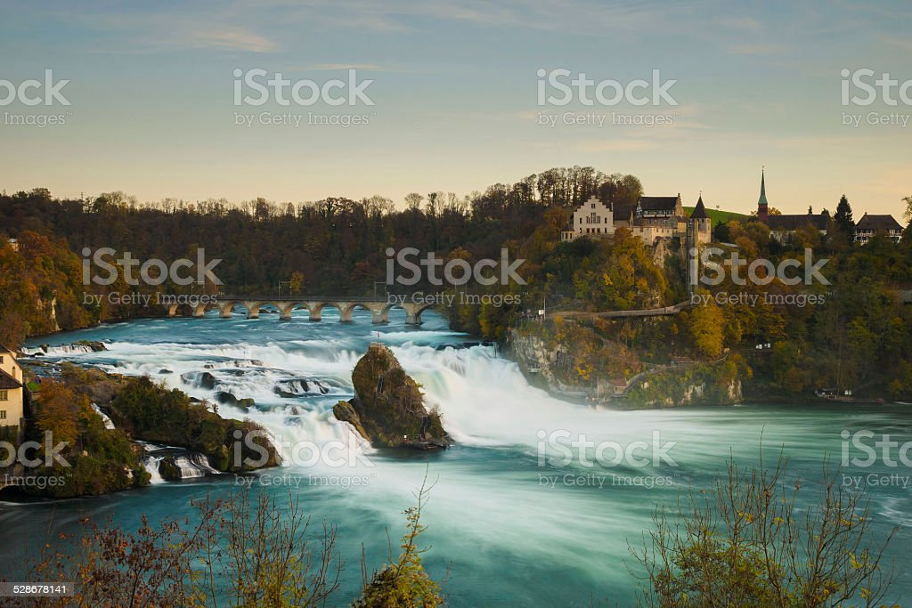 Rhine falls in Switzerland stock photo