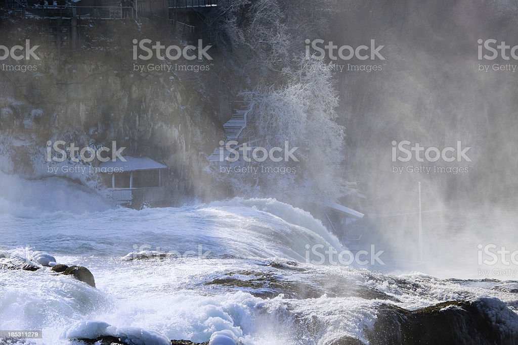 Rhine Falls in winter royalty-free stock photo