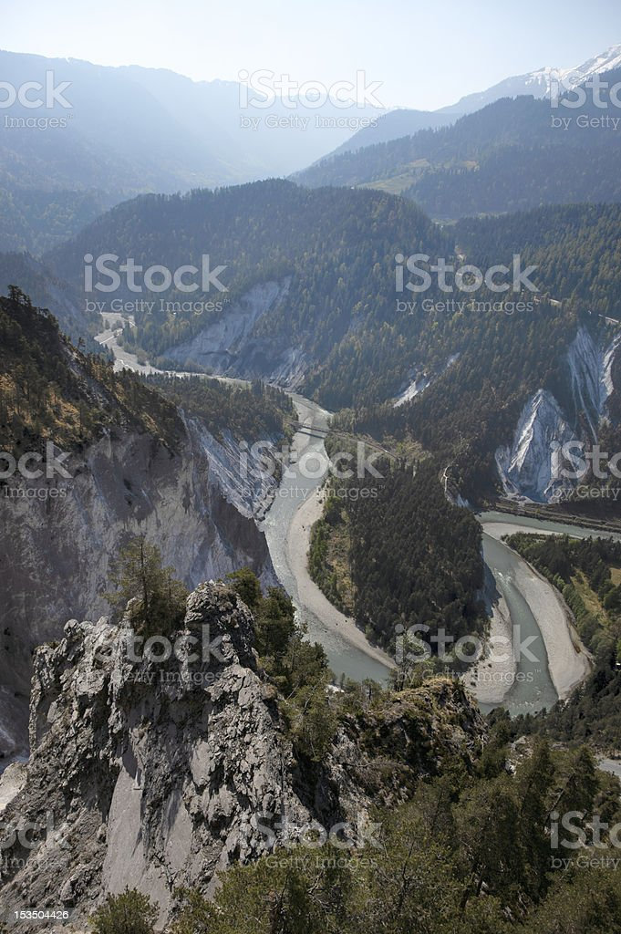 Rhine Gorge (Rheinschlucht) (XXXL) royalty-free stock photo