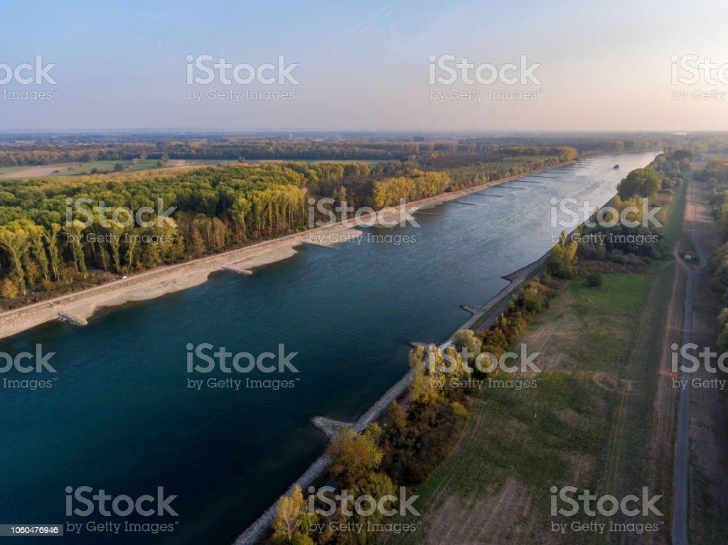 Rhein historischen Dürre, Deutschland germersheim – Foto