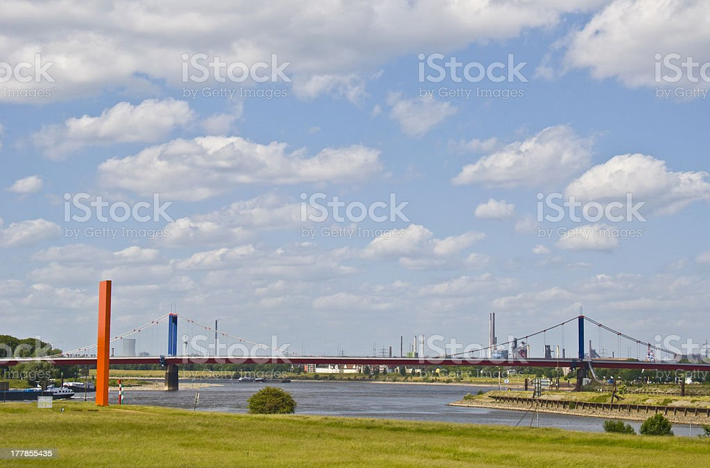 Rhine orange stock photo