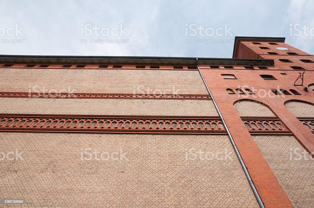 Rhine port warehouse foto de stock libre de derechos
