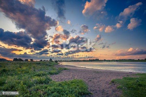 istock Rhine river bank at sunset 910228834
